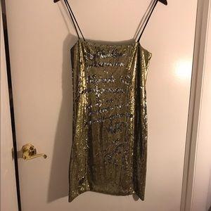 Dresses & Skirts - Festive Metallic Cocktail Dress